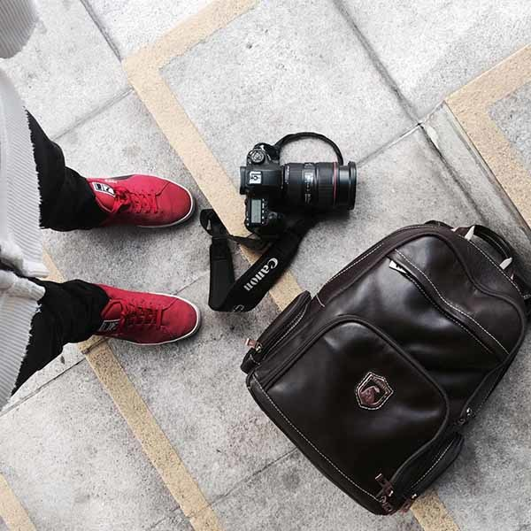 Mochila de couro para notebook nordweg tag nw073instagram fotografia