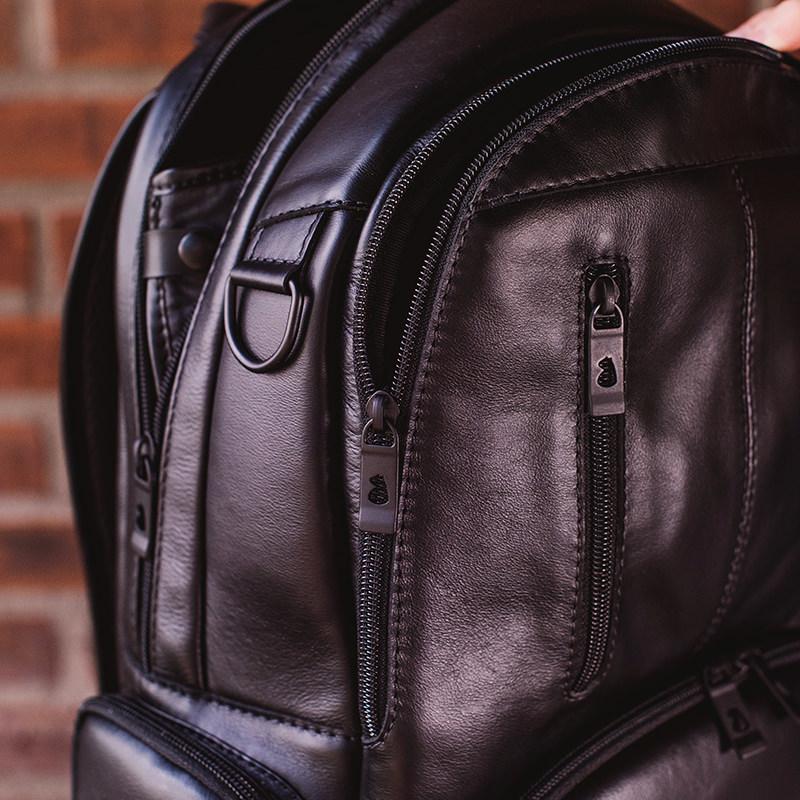 Mochila de couro para notebook Black Edition NW082 Alça de Mão