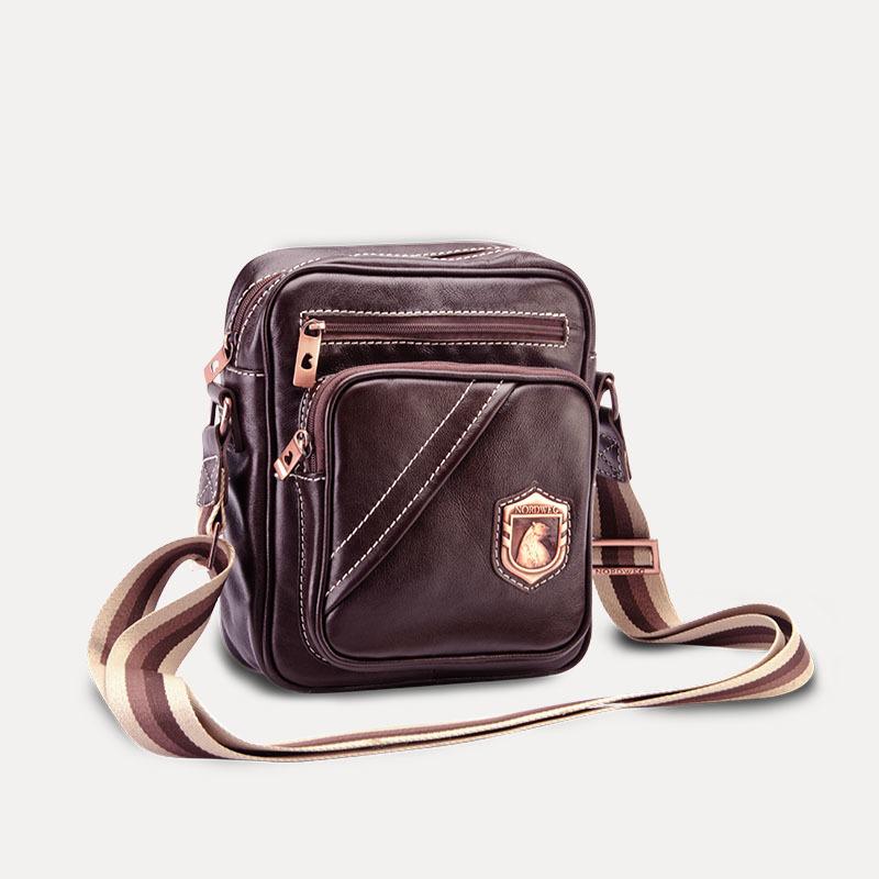 Bolsa masculina de couro nw057 lado
