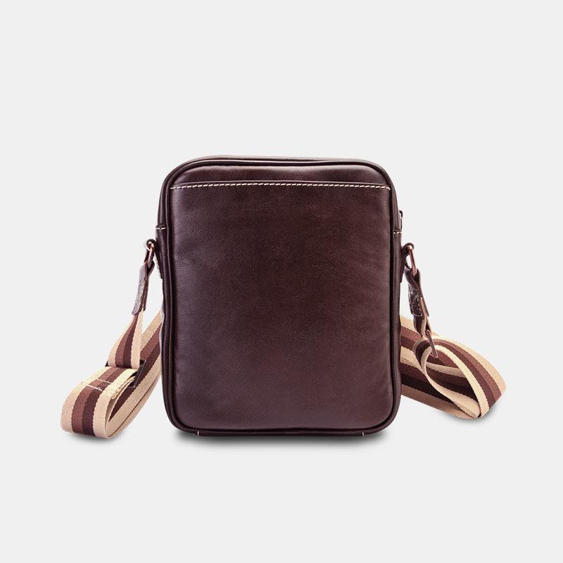 Bolsa masculina de couro nw057 costas