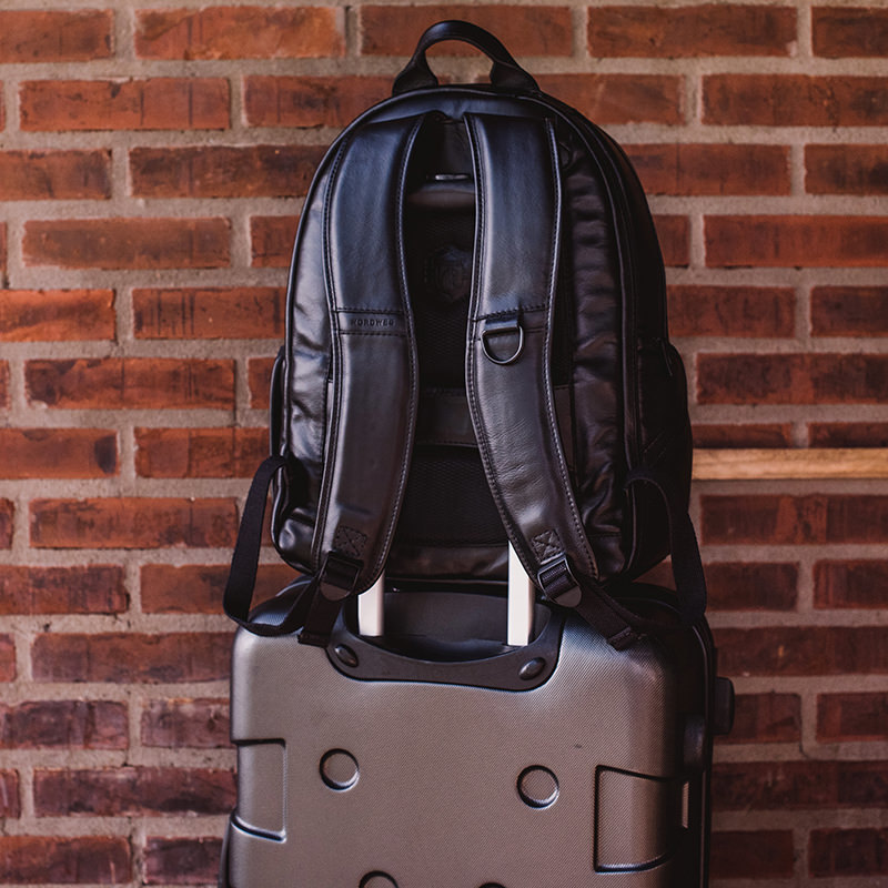 Mochila de couro para fotógrafos Black Edition NW088 Frente