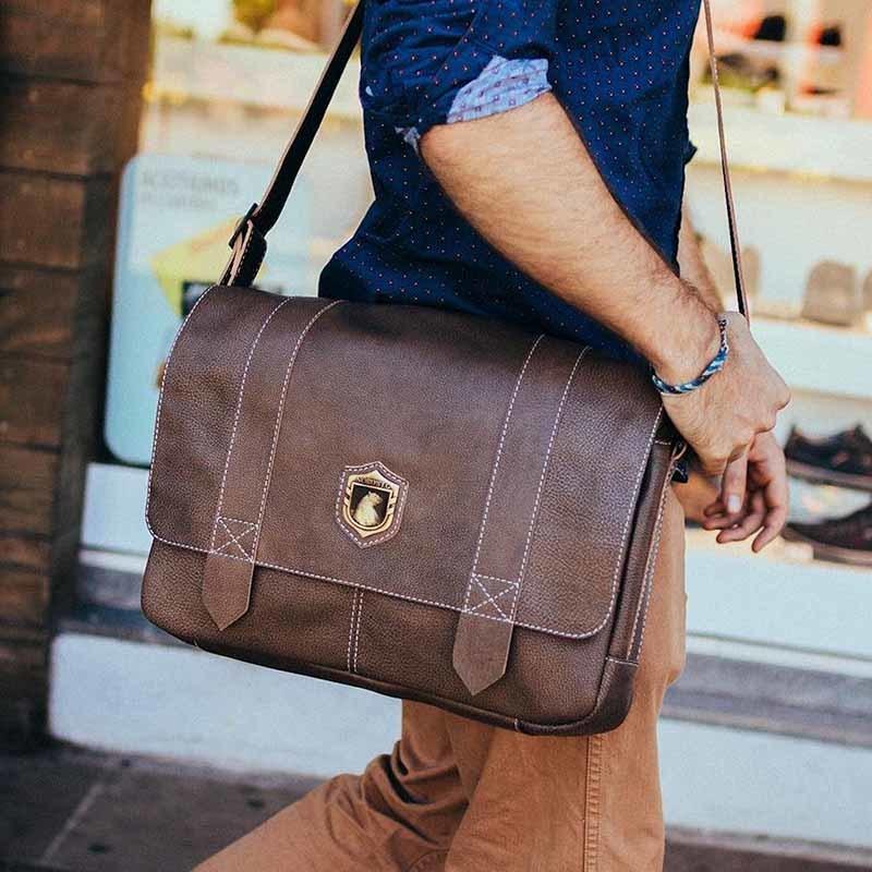 Bolsa masculina de couro para notebook schuster nordweg nw066instagram