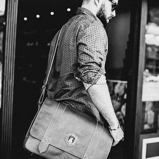 Bolsa masculina de couro para notebook schuster nordweg nw066instagram nordweg