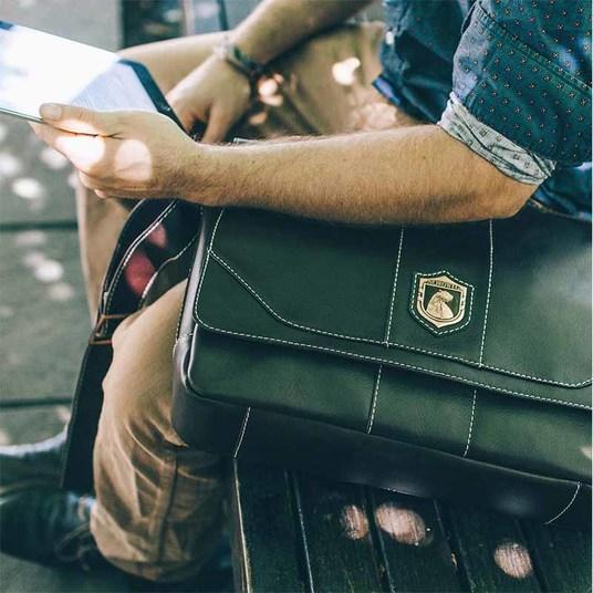 Bolsa masculina de couro para notebook nordweg nw068 instagram brasa%cc%83o