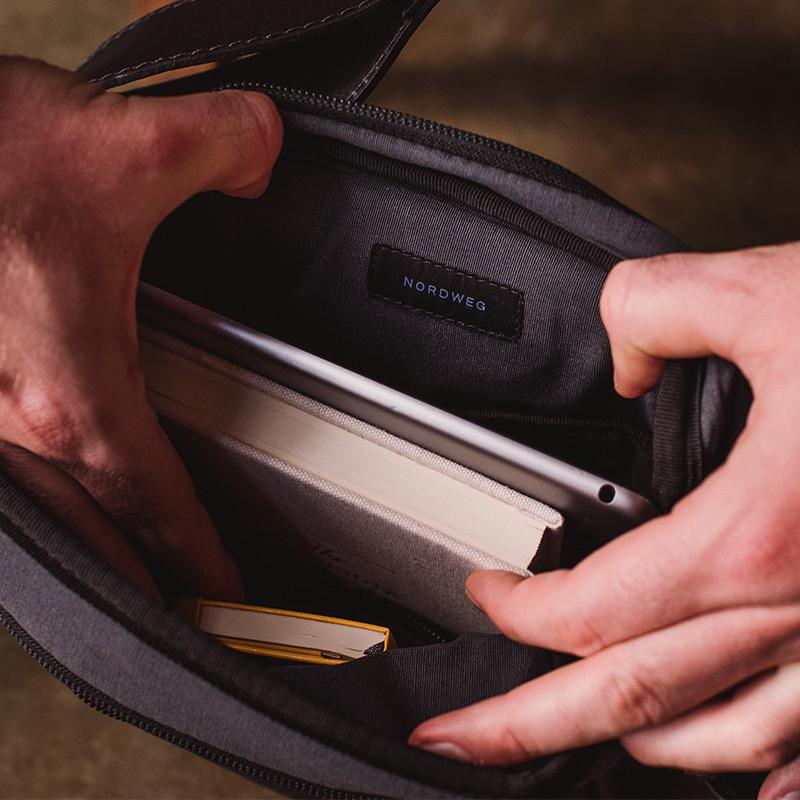 Bolsa de couro para iPad Nômade NW091 Italiano preto